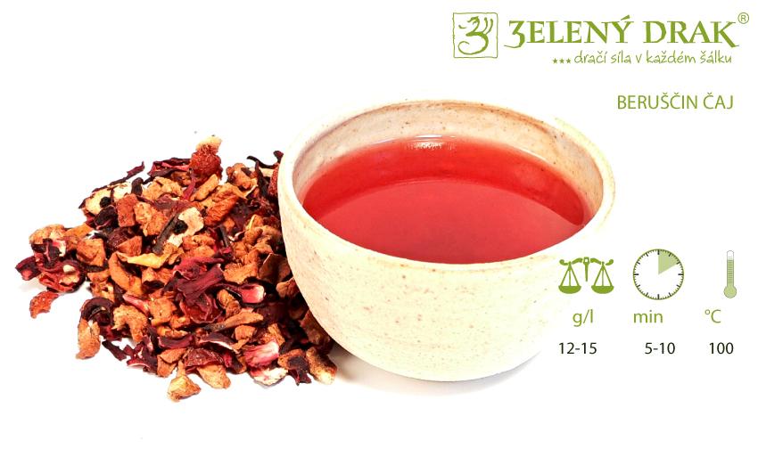 BERUŠČIN ČAJ - ovocný čaj - příprava