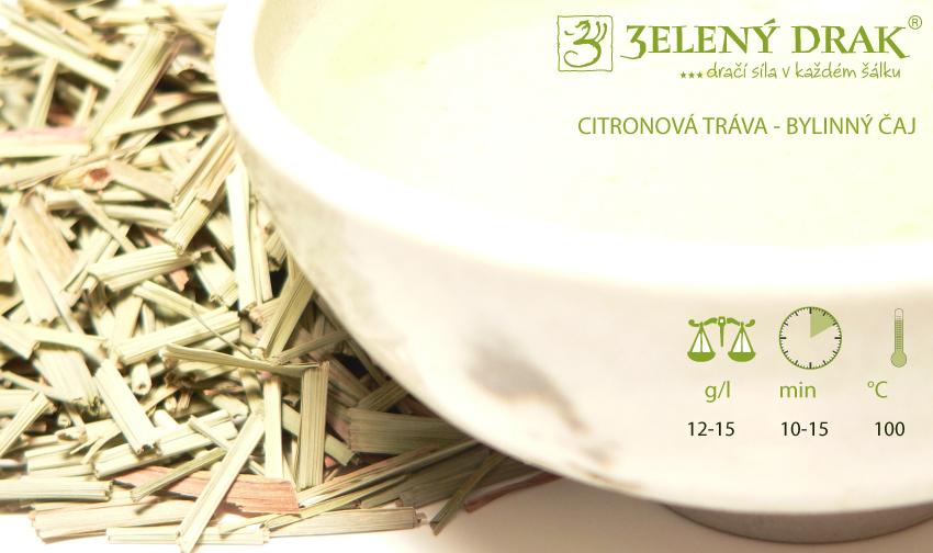 CITRONOVÁ TRÁVA - bylinný čaj a skvělé pleťové tonikum - příprava