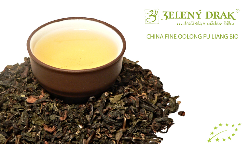 CHINA FINE OOLONG FU LIANG BIO - oolong čaj - nálev