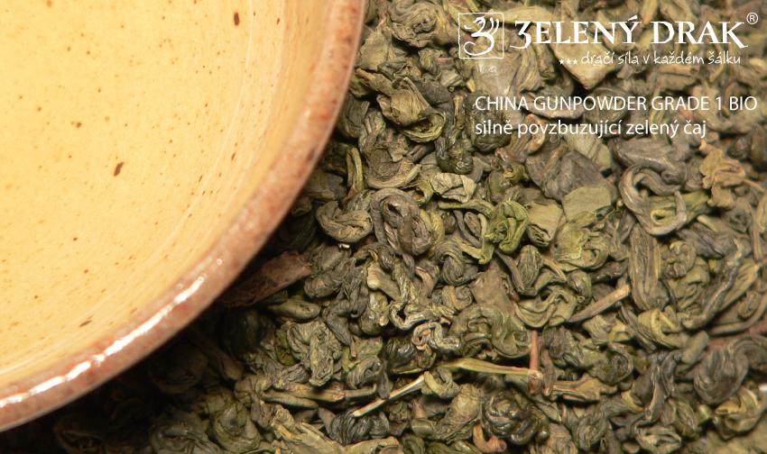CHINA GUNPOWDER GRADE 1 BIO - zelený čaj silně povzbuzující