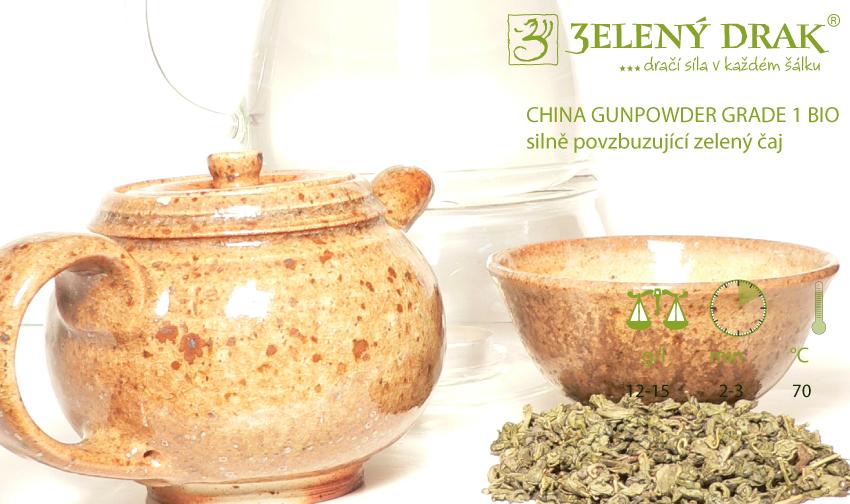 CHINA GUNPOWDER GRADE 1 BIO - silně povzbuzující zelený čaj – příprava