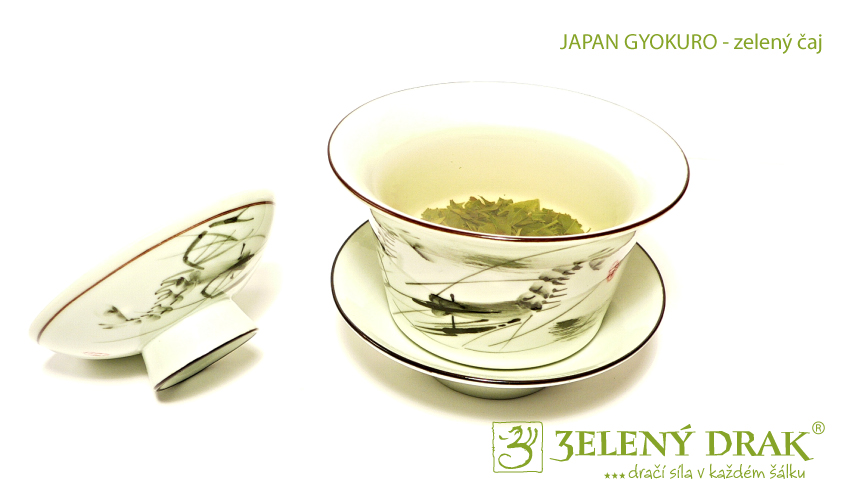 Japan Gyokuro - zelený japonský čaj - nálev