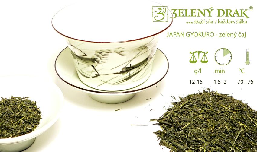 Japan Gyokuro - zelený japonský čaj - příprava