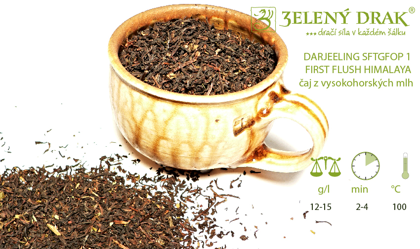 DARJEELING SFTGFOP 1 FIRST FLUSH HIMALAYA – čaj z vysokohorských mlh - příprava