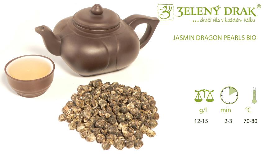 CHINA JASMIN DRAGON PEARLS BIO - zelený čaj - příprava