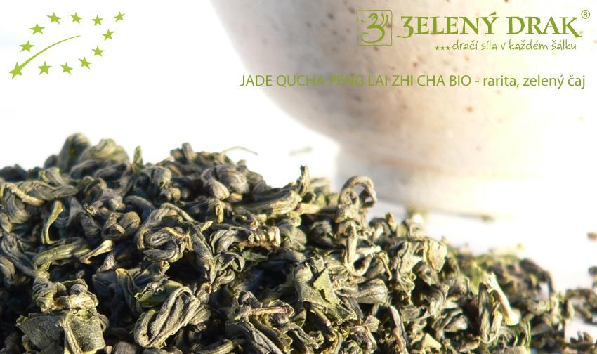 CHINA GREEN JADE QUCHA PENG LAI ZHI CHA BIO - rarita, zelený čaj