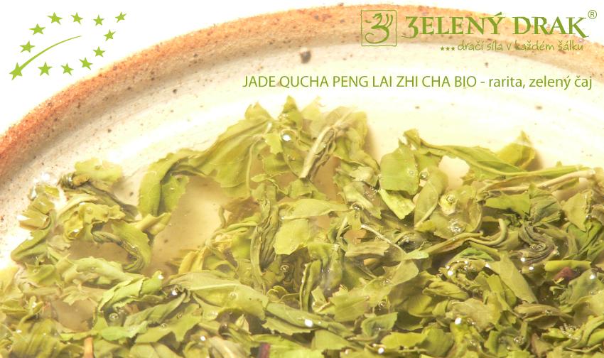 CHINA GREEN JADE QUCHA PENG LAI ZHI CHA BIO - rarita, zelený čaj - nálev