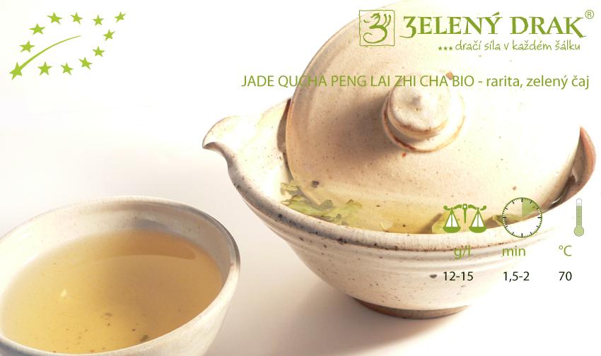 CHINA GREEN JADE QUCHA PENG LAI ZHI CHA BIO - rarita, zelený čaj - příprava