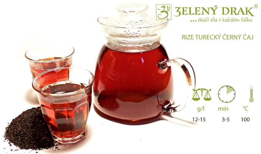 TURECKÝ ČAJ RIZE - černý čaj - příprava