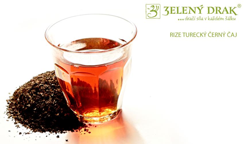TURECKÝ ČAJ RIZE - černý čaj - nálev