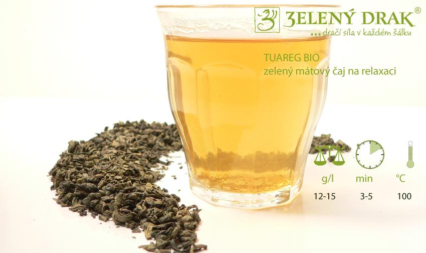 TUAREG BIO - zelený mátový čaj na relaxaci - nálev