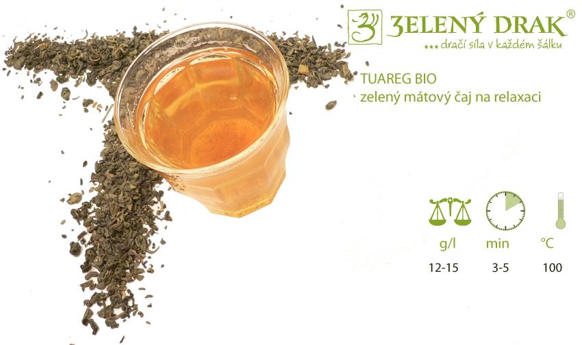 TUAREG BIO - zelený mátový čaj na relaxaci - příprava